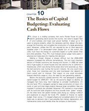 CHAPTER 10 The Basics of Capital Budgeting; Evaluating Cash Flows