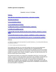 Anlisis general competitivo - Kenneth J. Arrow.pdf