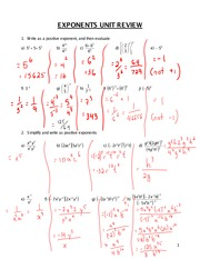 Pre-Calc 10 Exponents Review