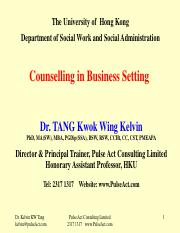 SOWK Counselling in Business Setting-Limitations and boundaries of counselling application in organi