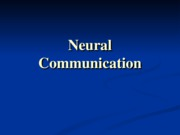 Lecture 3 - Neural Communication