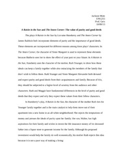 essay essay choice for colored girls day of absence  7 pages essay 1 a raisin in the sun and the amen corner the value of