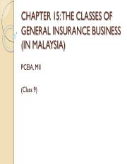 C9b - CLASSES OF GEN INS BUSINESS (IN MALAYSIA)