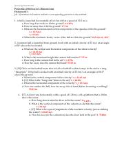 Projectiles HW 1-ANSWERS.pdf