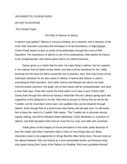 the chosen essay rahul murthy a the chosen character comparison 2 pages the chosen paper