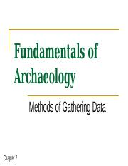 Chapter 2 P 1 Fundamentals Methods of Gathering Data.pps