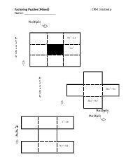 9. Factoring Puzzles (Mixed)
