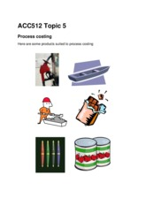 Topic 5 Process Costing