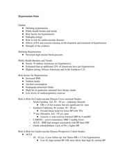 Hypertension Notes