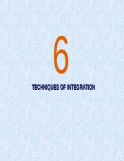 Chapter 6_Techniquse Of Integration
