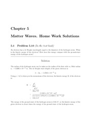 PHYS 205 Fall 2009 Chapter 5 Homework Solutions