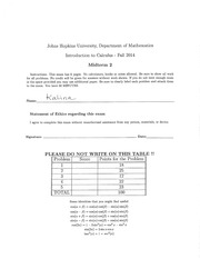 MATH 105 Fall 2014 Midterm 2 Solutions