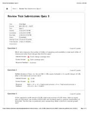Review Test Submission: Quiz 3