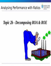 Topic 2b  Disaggregation of ROA and ROE.pptx