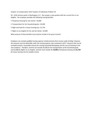 Chapter 12 Compensation 2014 Taxation of Individuals Problem 50