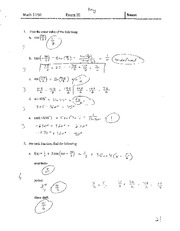 Exam III With Solutions