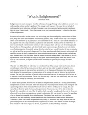 Kant What is Enlightenment?