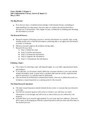 Notes Module 2 100% Information Literacy Success Chapter 2