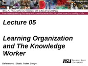 IEE 431-541 Lecture 05 Learning Organization(1)