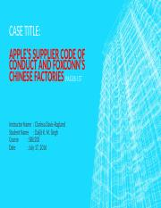 Case Study - Chapter 7 Apple