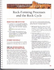 rocks and rock cycle condensed