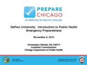 2013.11.06_Public Health Preparedness_DePaul University_Shields