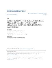 INVESTIGATING THE ROLE OF BUSINESS ANALYSTS  COMPETENCIES INTO ST.pdf