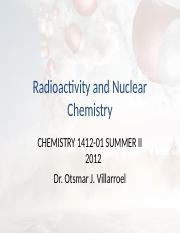 Radioactivity and Nuclear Chemistry