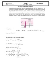 Quiz 6 2010 Solution on Intermediate Mechanics of Fluids