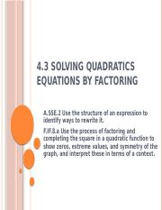4_3_Solving_Quadratic_Equations_by_Factoring