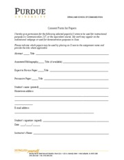 Consent Form for Papers