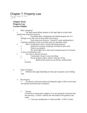 Chapter 7 Property Law