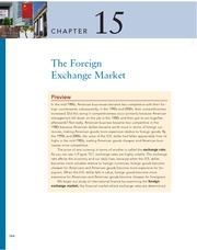 Chapter 15 The Foreign Exchange Market