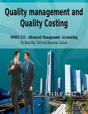 MMPA512 Tri 3 2016 Quality Management and Costing Animated