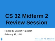 CS32 Midterm 2 Review Session