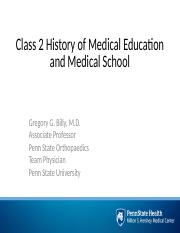 Class 2 History of Medical Education-Medical School.pptx