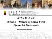 Week 5 presentation rmccarty Small Firm Financial Statment