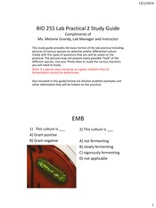 BIO 255 LP2 Review and Study Guide F'14