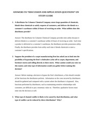 COMM 363 study guide questions on marketing and distribution