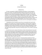 Respect essay assignment