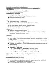 Epi Exam 1 Study guide