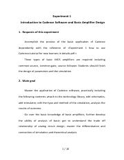 Experiment 1 Introduction to Cadence Software and Basic Amplifier Design.pdf