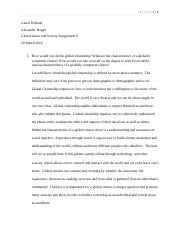 Global issues and society assignment 9.docx
