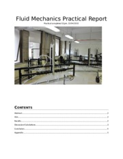 Fluid Mechanics Practical Report