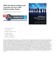 Auditing and assurance pdf pdf download auditing and assurance 1 pages auditing and assurance pdf fandeluxe Gallery