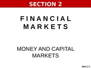 SECTION 2   Money and Capital Markets.pptx