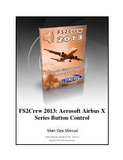 FS2Crew Airbus X Button Control Manual - FS2Crew 2013