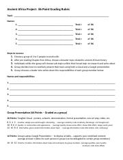 World I Ancient Africa Project – Grading Rubric (3).docx