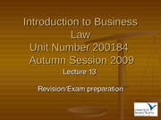 IBL Lecture 13 - Autumn 2009