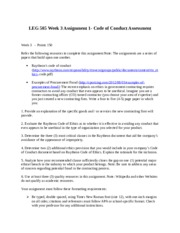 ABS 415Assignment 1 - Code of Conduct Assessment